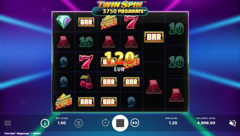 NetEnt-ი Twin Spin Megaways Slot-ს გამოუშვებს