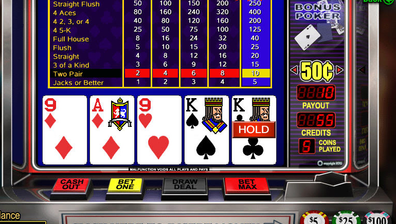 უფასო ონლაინ  video Poker